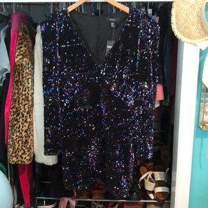 Plus size 80s chic sequined dress